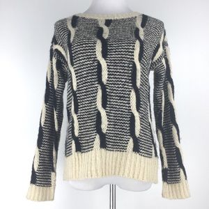 UO Sparkle & Face Cable Knit Sweater